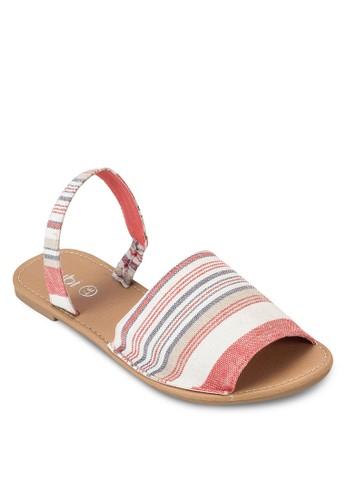 Margarita 寬帶繞踝涼鞋, 女鞋, esprit outlet 台灣印花時代