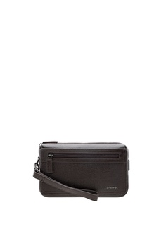 SEMBONIA brown Men Full Grain Leather Clutch Bag (Brown) 60C45AC64D7448GS 1 b433fe37b82ca
