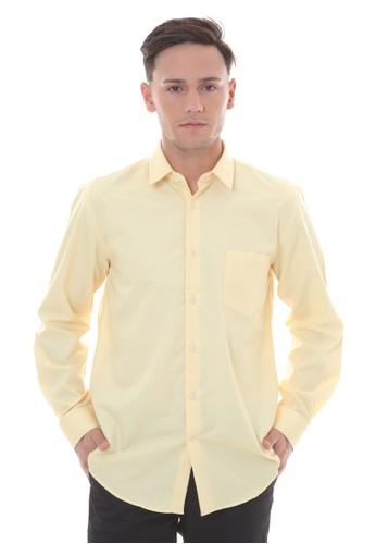 MANLY yellow MANLY Kemeja Regular Fit Argon-38 Yellow 5B94BAA74CA251GS_1