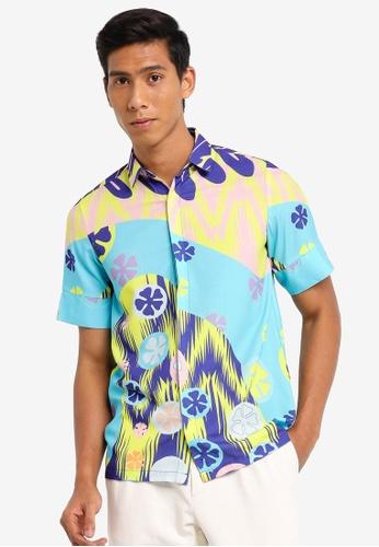 TAS by Tom Abang Saufi multi Aloe Short Sleeve Shirt B668EAAE94154BGS_1