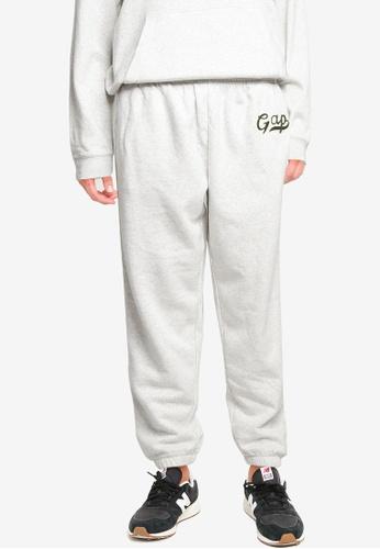 GAP grey Gap Script Jogger Pants 20D91AA95B8544GS_1
