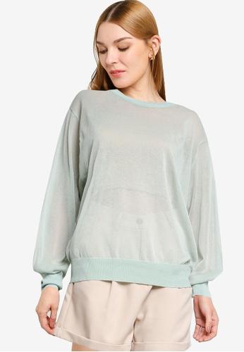 LOWRYS FARM green Light Sweater 63C5AAABF49B7FGS_1