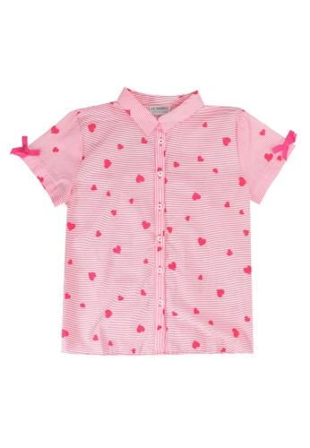 LC Waikiki red Girl's Striped Poplin Shirt FC512KACBEA8AFGS_1