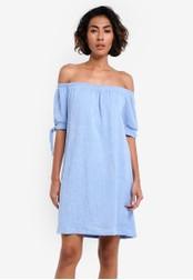 Mango blue Knots Textured Dress MA193AA0RMJEMY_1