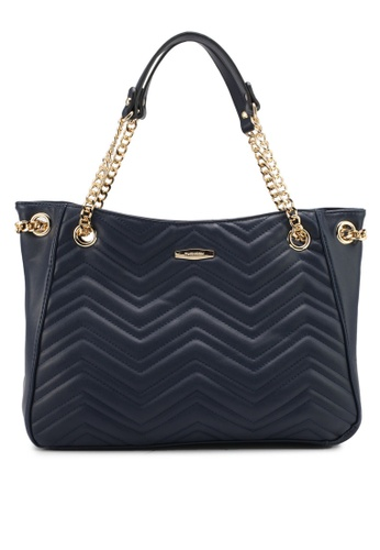 Perllini&Mel navy Faux Leather Double Handle Bag PE444AC0SIZXMY_1