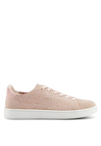 Rubi gold Cathryn Knit Sneakers 91069SH3F4EDF9GS_1