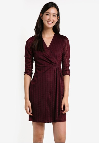 ZALORA red Wrap Front Dress 73150ZZDFD12B2GS_1
