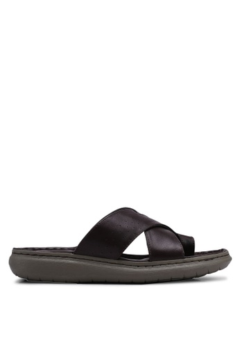 Bata brown Slide On Sandals B84F0SHD2D8D4CGS_1