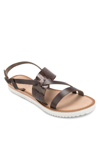 Tenace 蛇紋寬帶涼zalora 泳衣鞋, 女鞋, 鞋