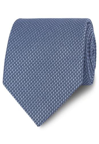 T.M. LEWIN blue T.M.Lewin Premium Blue Textured Wool Silk Tie 39D6DACC942932GS_1