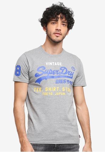 Superdry 灰色 Shirt Shop Tri Tee 2EB32AA7856A75GS_1