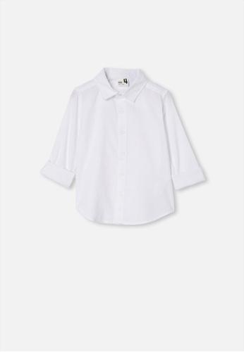 Cotton On Kids white Harper Long Sleeve Shirt  A2608KA52EF4C9GS_1