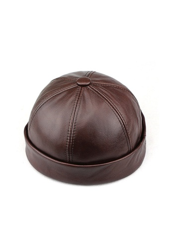 Kings Collection brown Dark Brown Cowhide Miki Hat (KCHT2018) FDA53AC7577E3AGS_1