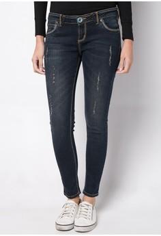 Modified Basic 5 Pocket Stretch Denim Skinny With Embro Jeans