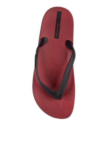 Ipanema black and red Anatomic Lapa Ad Flip Flops D5C99SHA7DE11FGS_1