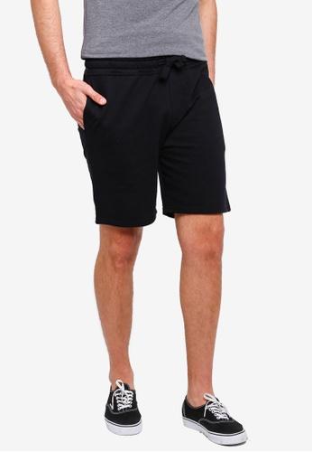 Burton Menswear London 黑色 休閒抽繩短褲 D9F32AAB9E461BGS_1
