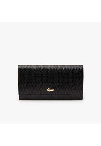 Lacoste black Lacoste Women's Chantaco Bicolour Piqué Leather 6 Card Wallet-NF2738CE BA491ACB4BFA68GS_1