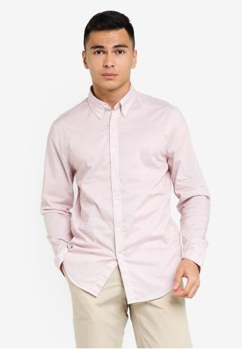 ABERCROMBIE & FITCH pink Stripe Print Shirt CAFFBAA1C3EAE9GS_1