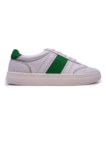 Rad Russel white and green Rad Russel Sneakers - Green 4299CSH2C33FDDGS_1