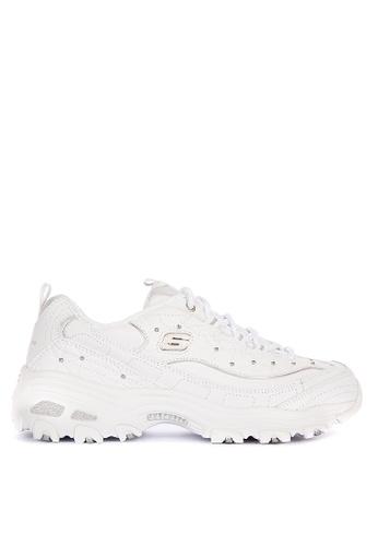 Skechers white D'Lites - Glamour Feels Sneakers 3C16ASHE6DA353GS_1