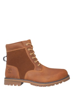 a9855ba323f Timberland brown Larchmont 6-Inch Waterproof Boots 9158DSHDC29532GS_1