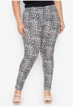 bcc5adbea68d15 Multiples grey Bernice Plus Size Animal Print Leggings 40CBFAA53859A2GS_1