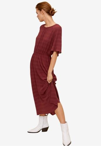 Mango red Round Neck Dress 6D026AAA76A6E4GS_1