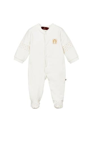 AIGNER KIDS white AIGNER BABY ROMPER C1494KA789202EGS_1