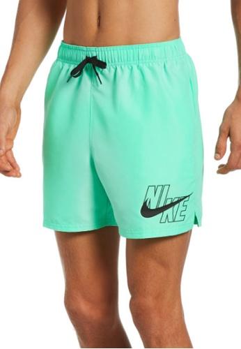 "Nike green Nike Logo Lap 5"" Volley Short 7BFE7US762C58AGS_1"