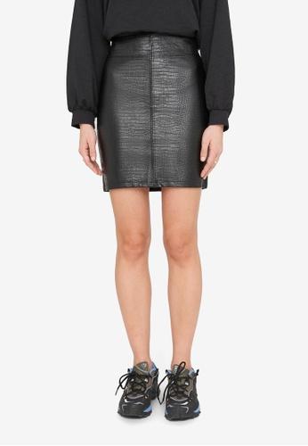 Noisy May black Lissy Hw Short Skirt 12C17AAE1D9F44GS_1