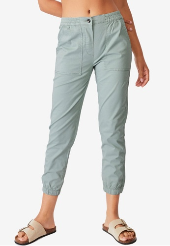 Cotton On green Cuffed Chinos 62F63AAB698724GS_1