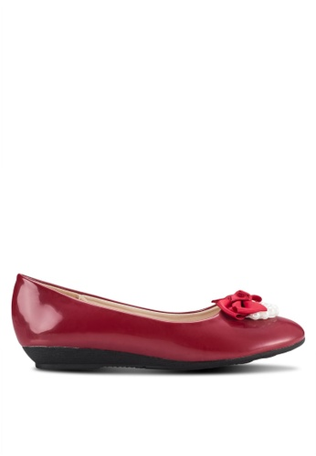 My Ballerine red Pearly Comfort Flats MY363SH42JCFMY_1