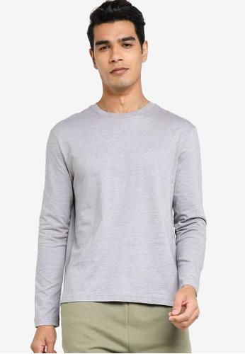 H&M grey Jersey Top Regular Fit 6ED45AA248B491GS_1