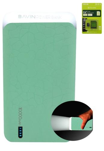 BAVIN green 10000mAh LED Flash Light Powerbank with FREE Bavin Memory Card 8 GB EEF1BAC4D1E2AEGS_1