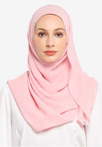 UMMA pink Sulam Sumera Scarf in Pink 2DBA0AA1F2FA89GS_1