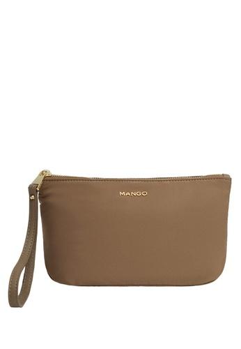 Mango brown Logo Cosmetic Bag 4E898AC8BC956BGS_1
