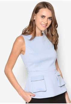 Collection Structured Peplum Top