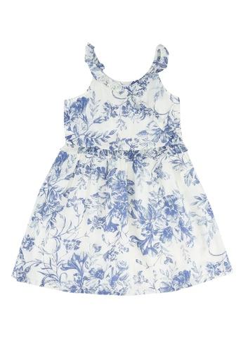 GAP blue Ruffle Wrap Dress 2F536KACD145C6GS_1