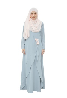 a6a2b755a1 Dreamyza blue Scarlet Jubah Dress in Pale Blue 68F14AAA66A2DBGS 1