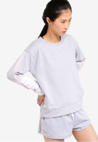 Cotton On Body grey Long Sleeve Terry Crew Top 554FFAA408CCADGS_1