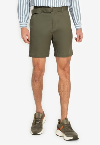 ZALORA BASICS green Belt Strap Shorts 1E5FFAA7C3C2F9GS_1