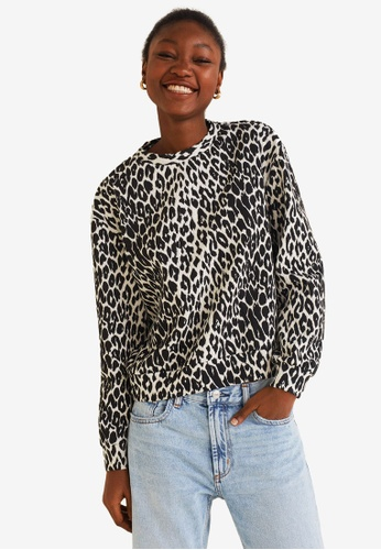 ae0ca00c2a403b Mango black Animal Print Sweatshirt 21A23AABF48583GS 1