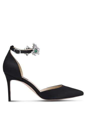 ZALORA 黑色 新年系列 水鑽繞踝尖頭高跟鞋 C1296ZZD27C1D3GS_1