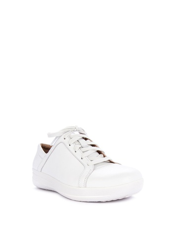 9bbc15b007b580 Shop Fitflop F-sporty Ii Lace Up Sneakers - Leather Online on ZALORA ...