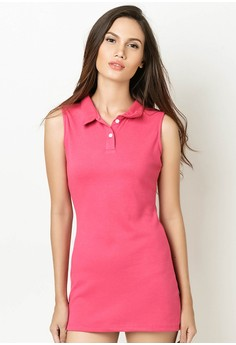 Dress with Collar and Placket