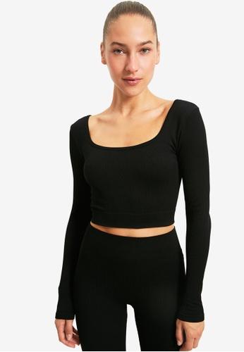 Trendyol black Long Sleeve Active Top 1A371AAB3B6E49GS_1