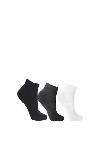 Mundo black and white and grey Mundo Sport Sneaker Sock Anti Bacteria 3 Pairs Pack 769D3AAF8559CEGS_1