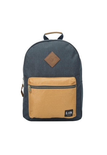 G.ride beige and navy Blanche Backpack EBF27AC22B83FBGS_1