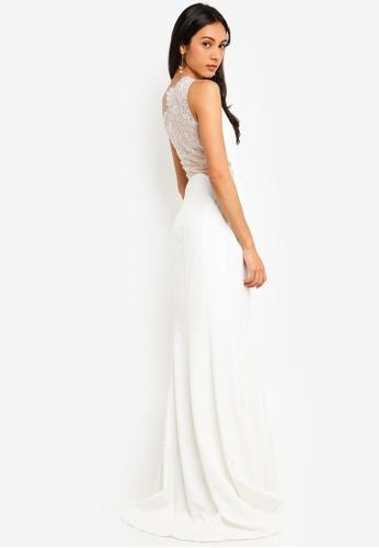 JARLO LONDON white Zana Evening Dress BA949AA9547F4DGS_1