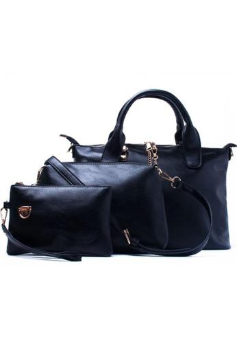 Vince black French Design Shoulder Bag(set of 3) VI456AC32SFZMY_1